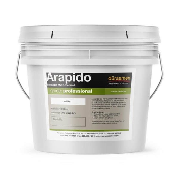 Arapido sprayable polished concrete microtopping (micro-cement)