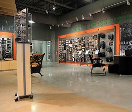 To show a Harley Davidson the right way you need a spectacular floor for your showroom—enter polished concrete. (thumbnail)