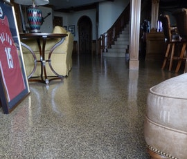 Resin chip flooring is a great look and offers a touch of class to any setting. (thumbnail)