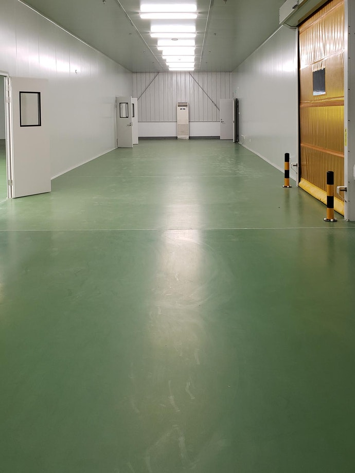Urethane modified concrete flooring in a new cannabis cultivation facility