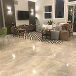 Concrete microtopping for flooring-residence
