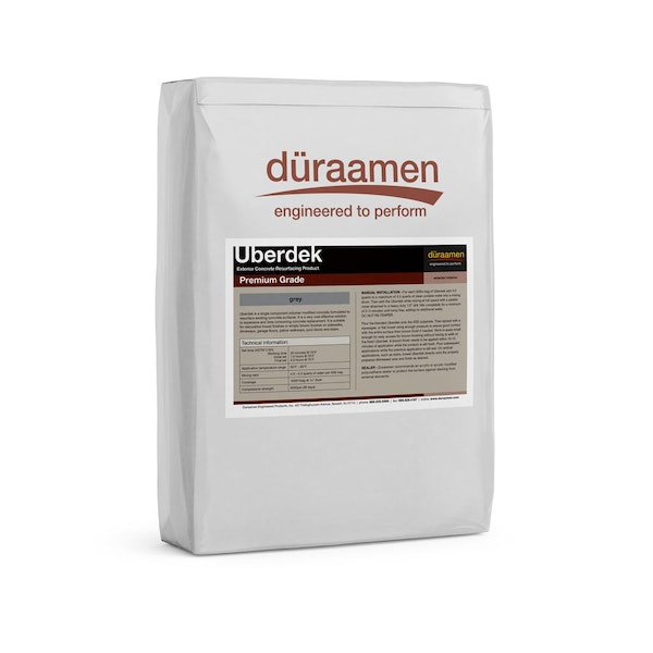 Uberdek Exterior Concrete Resurfacing for broom or spray down finish