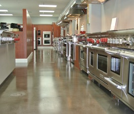 L. H. Brubaker appliance store with a polished concrete floor. (thumbnail)