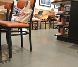 Here's a detail shot of the concrete resurfacing project at Coffee Beans in NYC. (thumbnail)