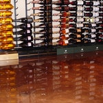 Concrete microtopping for flooring-wine store