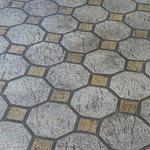 Octagon Tile Concrete Stencil ex. 1