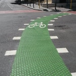 2-inch hax pattern in the asphault bicycle lane.