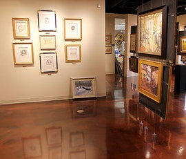 Lumiere metallic epoxy was chosen for the floor of the Evalyn Dunn Gallery (thumbnail)