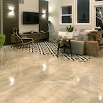 DIY: Homeowner Installs Designer Metallic Epoxy Floor Coating Throughout Home. ex. 5