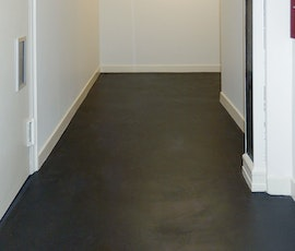 Iron Mountain was the color chosen to provide a modern and clean look for the flooring in this New York City office space. (thumbnail)