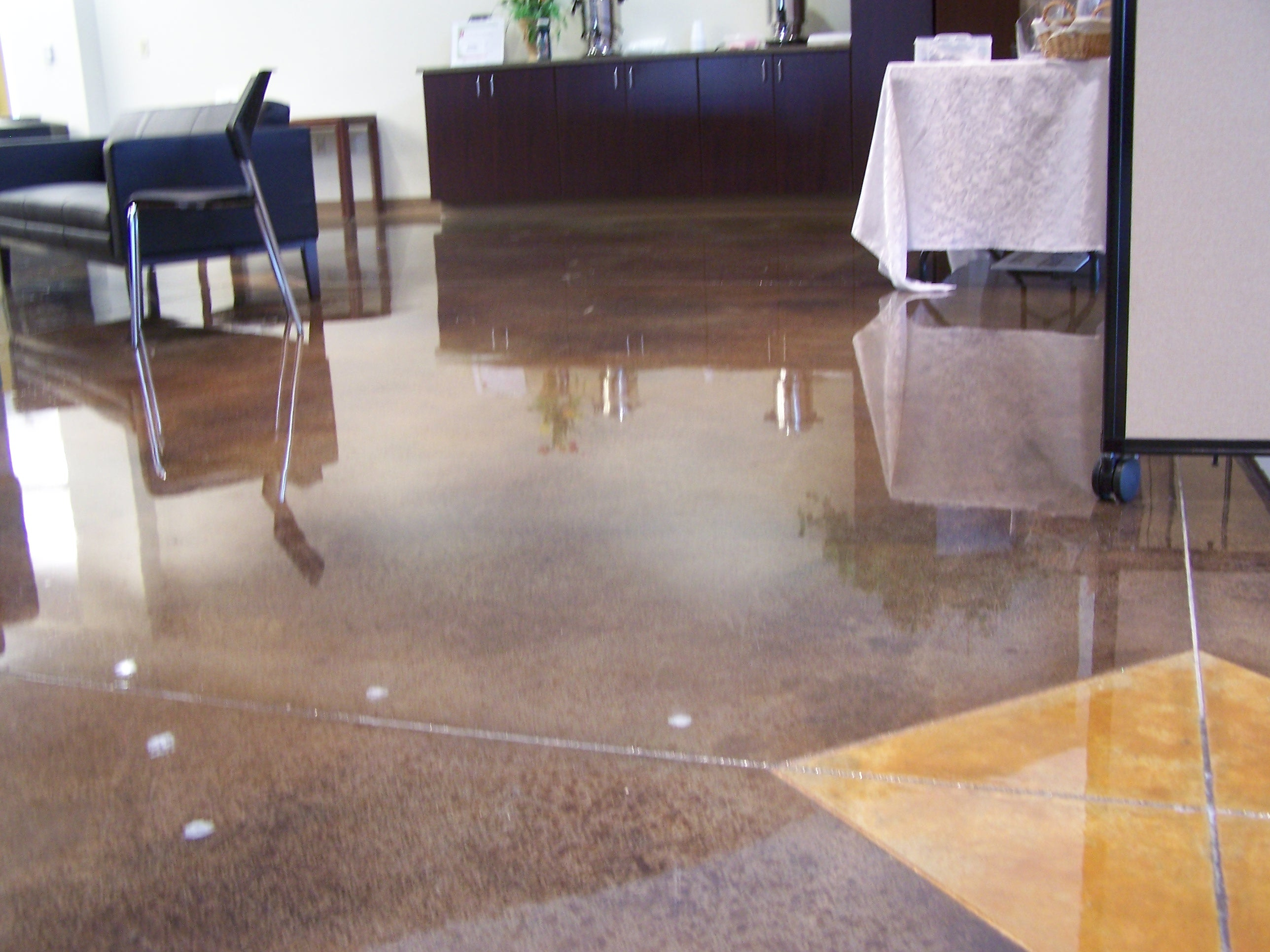 stained polished concrete floors in a church in tulsa ok rh duraamen com