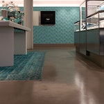Polished concrete floor close-up in Tiffany & Co. NYC.