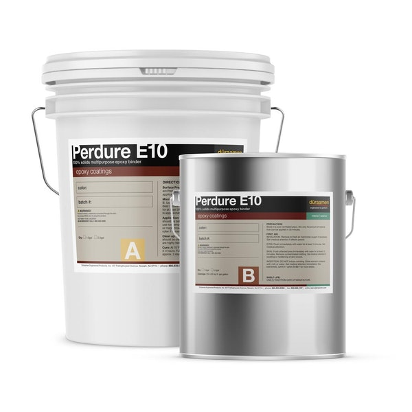 Perdure E10 100% solids multipurpose epoxy binder/sealer / body coat