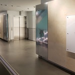 """Polished concrete floor in the Tiffany & Co. """"pop-up"""" store in NYC. Near elevators."""