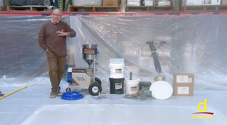How to Install Terrazzi Sprayable Polished Concrete | Part 1