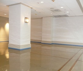 The high gloss decorative floor of this wedding hall is actually an industrial coating. (thumbnail)