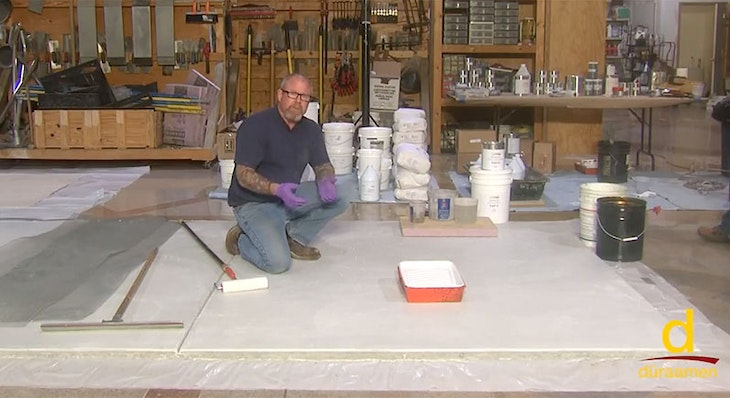 How to polish concrete toppings | Part 1/4