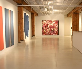 Resurfaced concrete flooring is often used in art galleries and public display venues. (thumbnail)