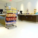 Self-leveling Epoxy Concrete Flooring: Cafeteria in New Balance's HQ. ex. 9