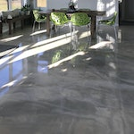 DIY: Homeowner Installs Designer Metallic Epoxy Floor Coating Throughout Home. ex. 4