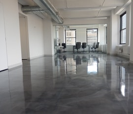 Lumiere designer epoxy system was installed in a office space on 530 7th Avenue in NYC.  (thumbnail)