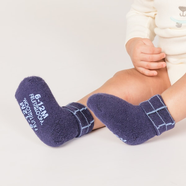 child with infant boys socks