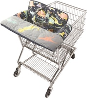 onthegoldbug-green shopping cart & highchair covers