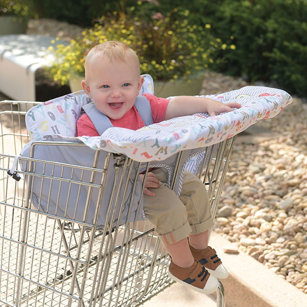 child with shopping cart & highchair covers