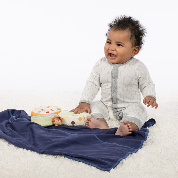 child with Boys Blankets