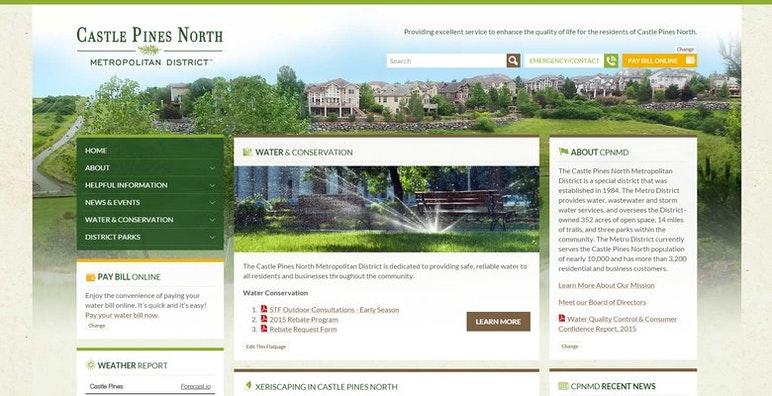 Castle Pines North Metropolitan District Website