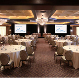 The Cristal Ballroom set up for a conference