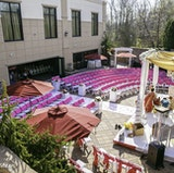 The Majestica Patio set for a Outdoor Ceremony