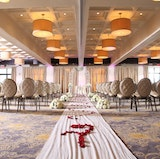 The Regalia Ballroom set for an indoor ceremony