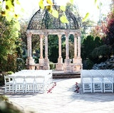 The Marble Gazebo set for a outdoor Wedding Ceremony