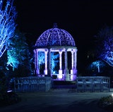 The Marble Gazebo set for a night time Ceremony