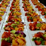 Start your morning meetings off with a energizing fresh fruit plate