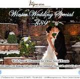 Winter Wedding Special- starting at just $89/pp