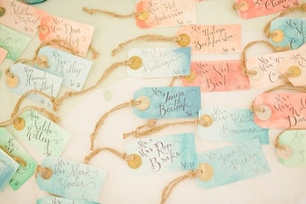 Diy Place Cards For Your Spring Wedding