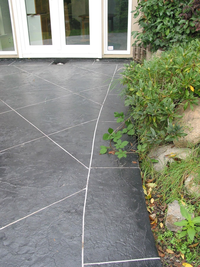 A Stampable Concrete Overlay Beautifies This Residential Patio.